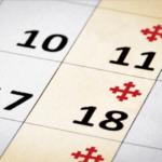 Closeup of Calendar, services.