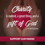 Decorative heart presented in a pair of hands, showing that charity is a gift of God.