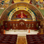 Saint George Greek Orthodox Church interior, Live Liturgy.